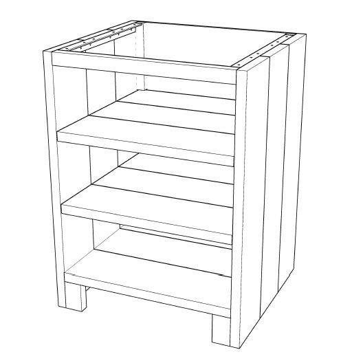 Zelf Een Keuken Maken Van Steigerhout : Buitenkeuken maken >>open kast met planken 001KE01