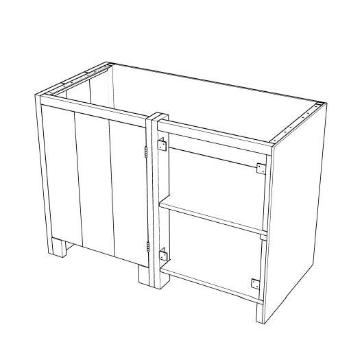 Keuken Steigerhout Zelf Maken : Buitenkeuken maken >> Hoekkast links 001KE04