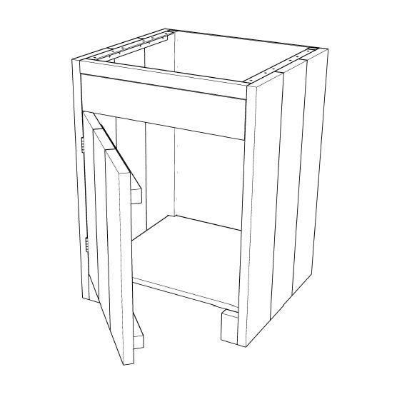 Steigerhouten Keuken Zelf Maken : Buitenkeuken maken >> kast met paneel en deur 001KE05a