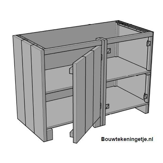 Buitenkeuken Steigerhout Zelf Maken : Buitenkeuken maken: Hoekkast links model 001KE04